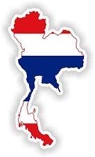 Thailand Map Flag Sticker Silhouette for Bumper Helmet Car Fridge Laptop Door