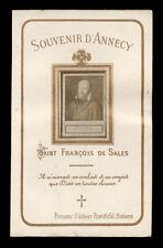 santino fotografico di fine '800 S.FRANCESCO DI SALES souvenir D'ANNECY