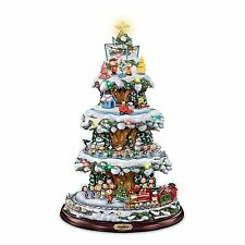 PEANUTS GANG MOVING & LIGHTED CHRISTMAS TREE HOLIDAY DECOR NEW