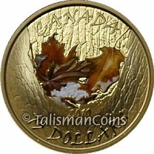 Canada 2010 Four Seasons Winter $75 Gold Proof Color Maple Leaf GML Seasonal