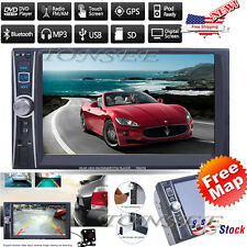 Double 2DIN In Dash HD MP5 Navi Car Bluetooth Auto Stereo Radio USB/TF SD CAM US