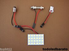 Placa Panel C5w festoon 30mm 36mm 39mm 41mm T10 w5w BA9s 24 led SMD 5050 BLANCO