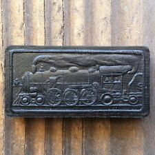 2 Vintage Original STEAM ENGINE TRAIN WOOD Domino 1910s NOS Unused Altered Art
