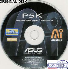 ASUS GENUINE VINTAGE ORIGINAL DISK FOR P5K AND P5KC Motherboard Disk M1194