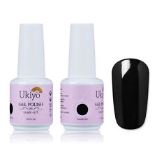 Ukiyo Black Soak Off UV/LED Gel Nail Polish Varnish Top Base Coat Manicure 15ML