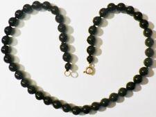 collier bijou vintage perle de porcelaine noir noeud de soutient R