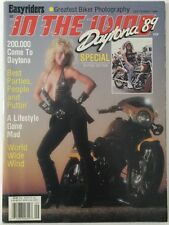 IN THE WIND #35 MOTORCYCLE MAGAZINE 1989 Harley Davidson
