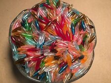 Craft Plastic Spaghetti Beads 7x20mm 1,000 Pack - Assorted Colors