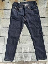 United Stock Dry Goods Dark Blue Slim Skinny Selvedge Denim Jeans Sz 28 Selvage