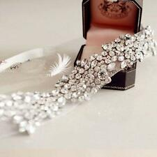 Handmade Wedding Bridal Party Vintage Crystal Tiara Ribbon Headbands Hair Band