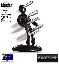 THE GUARANTEED ORIGINAL VOODOO CSB KITCHEN KNIFE BLOCK SET BLACK SECOND EDITION
