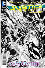 JUSTICE LEAGUE 17...NM-..1:100 Sketch Variant...2013...Geoff Johns..HTF Bargain!