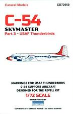 Caracal Decals 1/72 DOUGLAS C-54 SKYMASTER Part 3 U.S. AIR FORCE THUNDERBIRDS