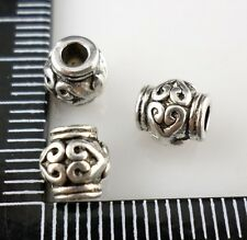 24pcs Tibetan Silver Hole: 2mm Spacer Beads 6x6.5mm  (Lead-free)