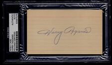Harry Agganis Signed 3x5 Index Card PSA/DNA 83567076 Boston U Red Sox D. 1955