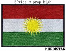 Kurdistan Flag Embroidery Patch  free shipping worldwide