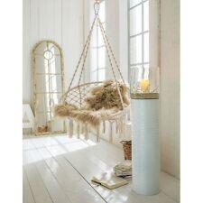 Sessel Hängesessel mit Kissen zur Deckenbefestigung 80 cm Ø Baumwolle