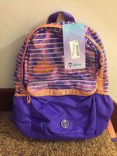 NWT Ivivva By Lululemon School Spirit Backpack Bag JLDR/PWPU - READ INTL SHIP