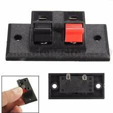 2 Way Pin Push Release Connector Plate Amplifier Speaker Terminal Strip Block