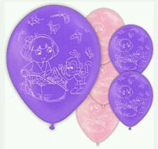 6 Pack Dora the Explorer Latex Balloons Girls Birthday Party Loot Bag Fillers ♡