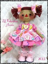 "~Primitive Raggedy""'Lil Valentine Annie"" PATTERN #132~Ginger Creek Crossing"