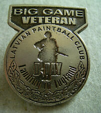 BIG GAME VETERAN LATVIAN PAINTBALL CLUB  PIN