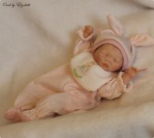 ooak hand sculpted polymer clay infant baby artist art doll girl 8 in elizabeth