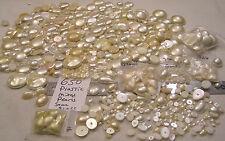 HUGE 650 Vtg Mix Cream & Ivory Flatback Cabochon Pearl Jewelry Craft Repair LBS
