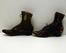 "Antique Ladies Boots Victorian  Los Angeles ""the Angelus"" Broadway Department"