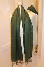 Emerald Green Cashmere Silk Pashmina Shawl Scarf Wrap Mothers Day St Patricks