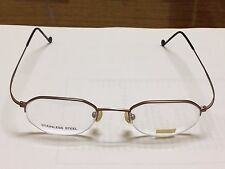 New ST. MORITZ EYEGLASS FRAMES semi-rimless MAUVE/BLUE 46-19-145 stainless steel