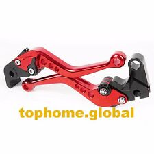 Short Clutch Brake Levers For YAMAHA YZF R6 2005-2015 / R1 2004-2008 Red CNC