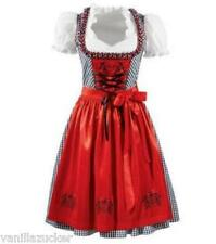 NEW  German  Austrian  style 3pc. Dirndl  Dress  Blouse  Apron  2