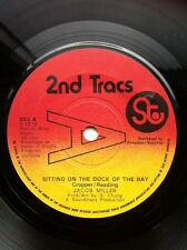 """Jacob Miller - Sitting On The Dock Of The Bay / Version 7"""" 2nd Tracs Promo SK5"""
