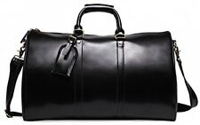 Leathario Genuine Leather Holdall/removable Shoulder Overnight Weenkend Travel