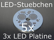 5x 3 LED High-Power Rundplatine