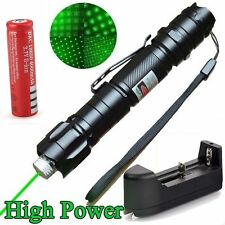 Military 10 Miles 5mw 532nm Green Laser Pointer Pen Visible Beam Cap + Battery