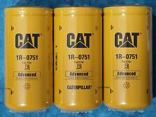 3 NEW CAT 1R-0751 FUEL FILTERS SEALED MADE IN USA CATERPILLAR 1R0751 OEM