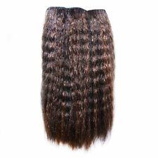 "Kinky Straight Afro Hair Extensions Weave 16"" (41 cm) Off Black and Golden Brown"