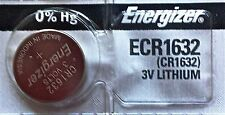Energizer ECR1632 CR 1632 Lithium 3V Battery Braned New Authorized Seller