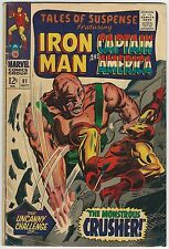 TALES OF SUSPENSE #91 4.5 VG+ MONSTROUS CRUSHER APP (ID 4955)