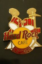 HRC Hard Rock Cafe Chicago Red Drum Set Yellow Logo 3LT