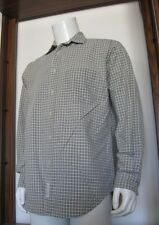 S Mens American Eagle Outfitters Long Sleeve Button Shirt Green Beige Plaid EuC