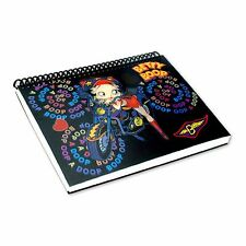 Lenticular Betty Boop Spiral Motorcycle Black Notebook 4x6in 144Page #BB-206-NB#