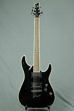 Schecter C Elite  Black with Abalone inlay work and Grover Keys Humbuckers