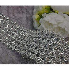 DIAMOND MESH RHINESTONE Wrap Bling Crystal Ribbon DIY Wedding Cake Party Decor