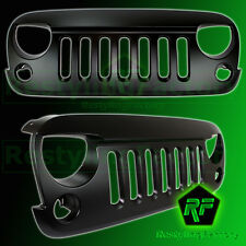 Jeep JK 07-16 Wrangler Satin Black ABS Replacement Grille Shell Rubicon OffRoad
