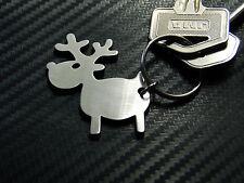 RIENDEER Deer Antlers Father Christmas Santa Claus Sleigh Keyring Keychain Key