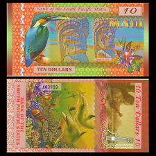 South Pacific States, 10 dollar, Maui (Hawii USA) 2015, Polymer, UNC