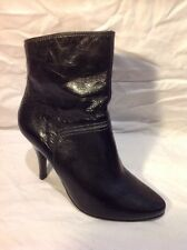 Dune Black Ankle Leather Boots Size 38